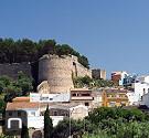 Blick auf die Burg von Dénia